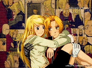 Winry and Ed from Full Metal Alchemist
