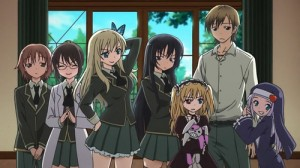 "The cast of ""Haganai: I Don't Have Many Friends"""